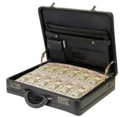 Koffer voller F¸nfzig-Dollar-Scheine, Geldkoffer