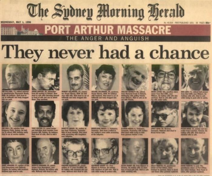 Image result for Port Arthur-massacre
