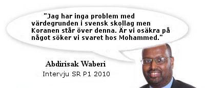 Ansvarigt skolkommunalråd fördömer Waberi - Muslimska friskolan